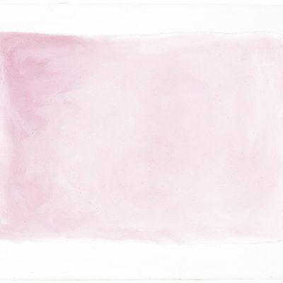 """Kleines Rosa"", Acryl auf Jute, 100x140 cm, 2004"