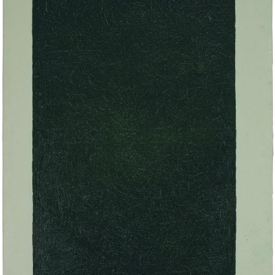 """""""Grünes Feld"""", Acryl, Öl auf Jute, 100x140 cm, 2005"""