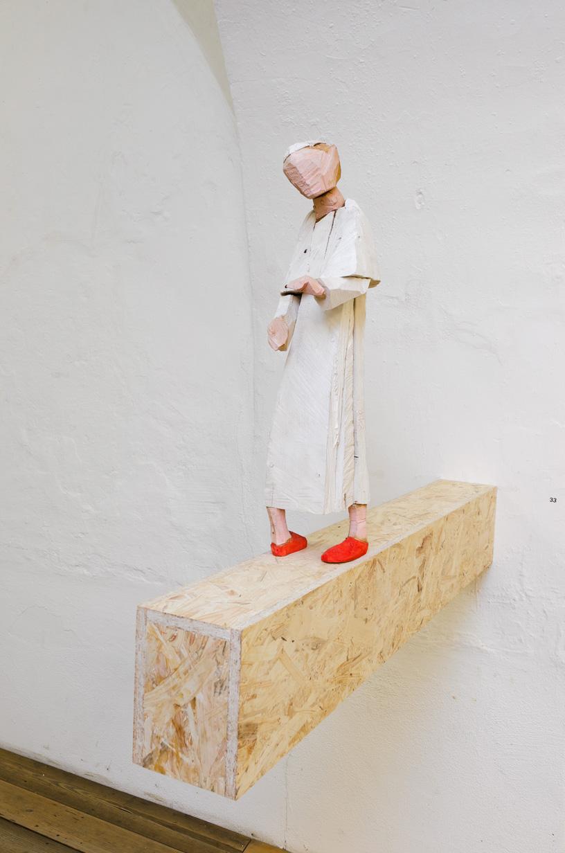 """""""Fortschritt"""", Lindenholz, Acrylfarbe, 120x 79x 22 cm, 2004"""