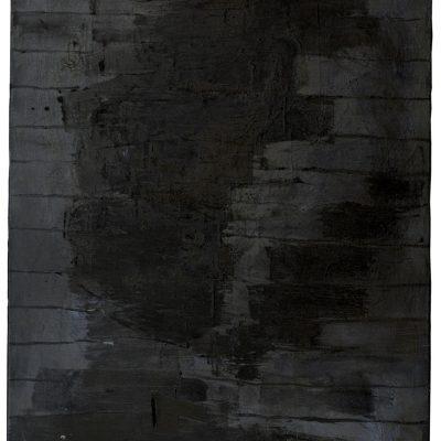 """""""Schwarzes Selbst 1"""", Öl auf Jute, 100x140 cm, 1995-97"""