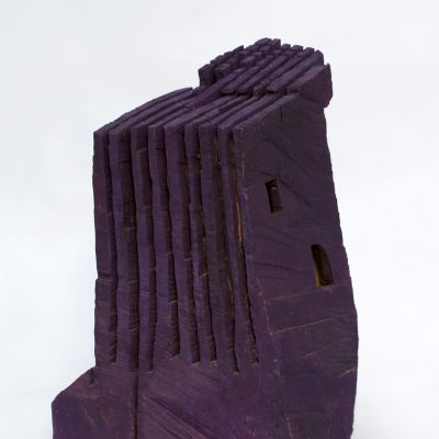 """""""Bauchform"""" , Lindenholz, Ölfarbe, 36x 53x 64 cm, 2003"""