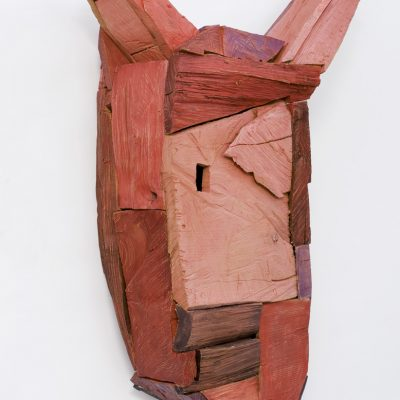 """Thanatos"", verschiedene Hölzer, Acryl, 31x 64x 101 cm, 2006"