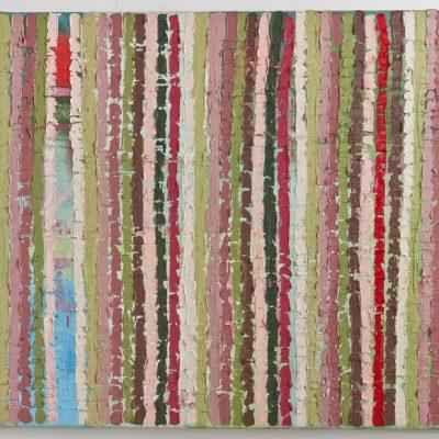 """""""Mühlviertel übermalt"""",Öl auf Leinen, 56x111 cm, 2009-12"""