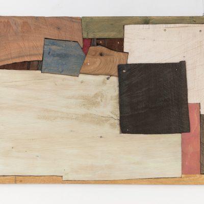 """Felder"", verschiedene Hölzer, 70x 115x 6 cm, 2013"