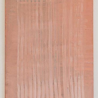 """""""Rosa- Strich"""", Öl auf Leinen, 101x65 cm, 2015"""