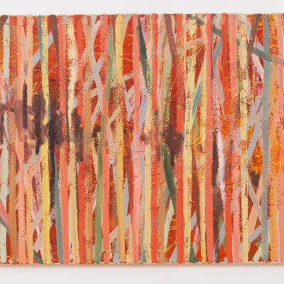 """""""Kreuzungen"""", Öl auf Jute, 140x100 cm, 2014"""