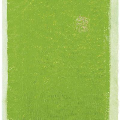 "Grün mit Linien"", Acryl, Öl auf Jute, 140x100 cm, 2005-14"