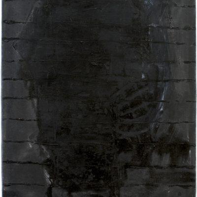 """""""Schwarzes Selbst 2, Öl auf Baumwolle, 80x60 cm, 1997"""