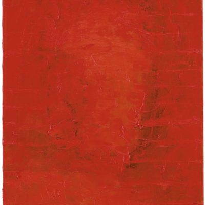 """Selbst Rot 1"", Öl auf Leinen, 70x50 cm, 1997"