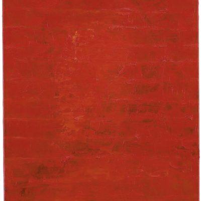 """Selbst Rot 2"", Öl auf Leinen, 70x50 cm, 1997"