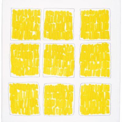 """""""Gelber Strich"""", Öl auf Leinen, 60x50 cm, 1999"""