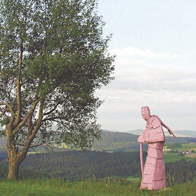 Erlkönig, Linde und Dispersion, 250x 95x 84 cm, 2001